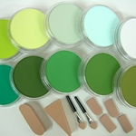 Pan Pastel Set of Ten Greens