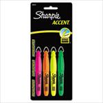 Sharpie Accent Mini Pack of 4 Highlighters