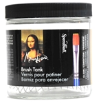 Mona Lisa 16oz Brush Cleaning Jar with screen