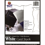 Pacon White Card Stock Pack of 100 each - 8-1/2 x 11 inch