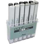 COPIC Sketch Markers Set of 12 Toner Grays