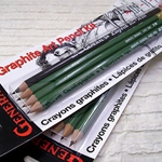 Generals Graphite Art Pencil Kit (Four Pencils plus One Eraser)