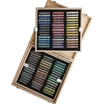 Rembrandt Pastel Sets - 90 Full Stick Landscape Selection in a Wood Box