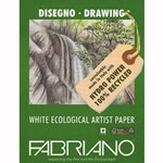 "Fabriano Eco White Drawing Paper 25 Sheets (19""x25"" 94lb Paper)"