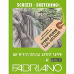 "Fabriano Eco White Sketching Paper Pack of 25 Sheets (19""x25"" 56lb Paper)"
