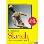 "Strathmore Sketch Classroom Value Pack 9""x12"" (200 Sheets)"