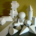 Plaster Casts - Set of 15 Geometric Shapes