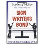 Borden & Riley White Sign Writers Bond