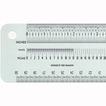 Schaedler Precision Ruler - 12 Inch Single A (Inch/Metric/Pica)
