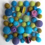 Felted Wool Bead Multi-Packs 50 Piece Assortments