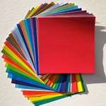"Origami Paper - 55 Solid Color Sheets 3-7/8"" (10cm) Square"