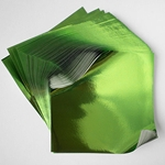 "Foil Origami Paper - Yellow Green 12"" Square 24 Sheets"
