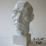 Plaster Cast Torino Sculptures - Perspective Male Head