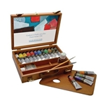 Sennelier Artists' Oils Wood Box Set of 12 - 40ml Tubes