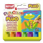 PlayColor FLUO - 6 Florescent Solid Poster Paints