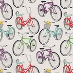 "Bicycle Printed Paper - 19""x26"" Sheet"