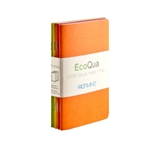 "EcoQua Staplebound Blank Warm Pocket Notebook Set of 4 - 3.5""x5.5"""