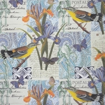 Rossi Decorative Paper from Italy- Birds and Iris 28x40 Inch Sheet