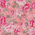 "Peach & Pink Flowers - 18.75""x25"" Sheet"