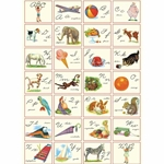 "Cavallini Decorative Paper - ABC Cursive Chart 20""x28"" Sheet"