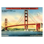 "Cavallini Decorative Paper - Golden Gate Bridge 20""x28"" Sheet"