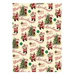 "Cavallini Decorative Paper - Vintage Santa 20""x28"" Sheet"