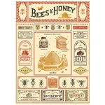 "Cavallini Decorative Paper - Bees & Honey 20""x28"" Sheet"