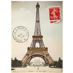 "Cavallini Decorative Paper - Eiffel Tower 20""x28"" Sheet"