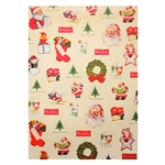 "Cavallini Decorative Paper - Vintage Christmas Collage 20""x28"" Sheet"