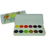 Talens Transparent Watercolours Set of 24 Pans in a Metal Box