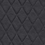Thai Embossed Puffed Diamonds- Black