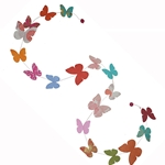 Decorative Paper Garland- Multicolor Butterflies