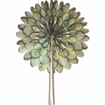 Decorative Paper Fan- Art Deco Sage