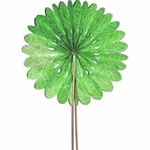 Decorative Paper Fan- Green Leaves