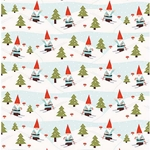 Holiday Skiing Gnomes Paper- 19x26 Inch Sheet