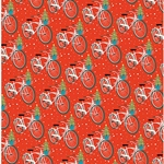 Holiday Bicycle Paper Roll- Two 27x39 Inch Sheets