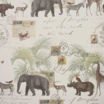 Marching Safari Animals Paper- 19.5x27.5 Inch Sheet
