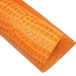 "Crocodile Embossed Paper- Orange 22x30"" Sheet"