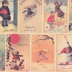 Tassotti Paper- Holiday Season Postcards 19.5x27.5 Inch Sheet