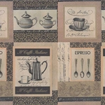 "Rossi Decorated Papers from Italy - Caffe Italiano 28""x40"" Sheet"