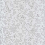 "Chinese Brocade Paper- White Dragons 26x16.75"" Sheet"