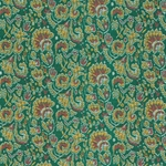 "Chinese Brocade Paper- Peacock Feather Green 26x16.75"" Sheet"