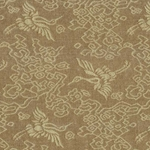 "Chinese Brocade Paper- Tan Cranes 26x36"" Sheet"