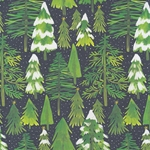 "Winter Pine Tree Forest 19x26"" Sheet"