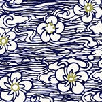 "Floating Flowers in a Sea of Blue & White 18""x24"" Sheet"