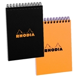 "Rhodia A6 Wirebound Pad - Orange 4"" x 6"""