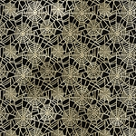 "Spiderweb- Gold Foil on Black Paper 22x30"" Sheet"