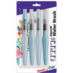 Pentel Aquash Water 4-Brush Set