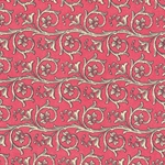 Bertini Florentine Paper- Scrolls on Red 19x27 Inch Sheet