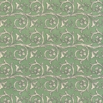 Bertini Florentine Paper- Scrolls on Green 19x27 Inch Sheet